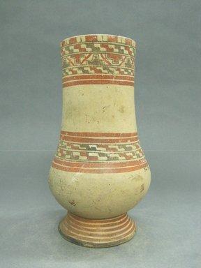 <em>Pear Shaped Vessel</em>, 1000-1350. Ceramic, pigment, 10 5/16 x 5 3/4 x 5 3/4 in. (26.2 x 14.6 x 14.6 cm). Brooklyn Museum, Alfred W. Jenkins Fund, 34.1886. Creative Commons-BY (Photo: Brooklyn Museum, CUR.34.1886.jpg)
