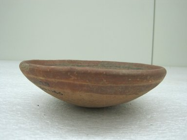 <em>Bowl</em>, 800-1200. Ceramic, pigment, 1 13/16 x 5 13/16 x 5 3/4 in. (4.6 x 14.8 x 14.6 cm). Brooklyn Museum, Alfred W. Jenkins Fund, 34.1966. Creative Commons-BY (Photo: Brooklyn Museum, CUR.34.1966_view1.jpg)