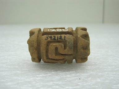 <em>Roller Stamp</em>, 1-700. Ceramic, 1 x 1 1/8 x 2 in. (2.5 x 2.9 x 5.1 cm). Brooklyn Museum, Alfred W. Jenkins Fund, 34.2121. Creative Commons-BY (Photo: Brooklyn Museum, CUR.34.2121.jpg)