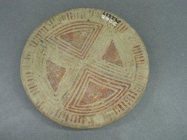 <em>Plate</em>, 800-1500. Ceramic, 13/16 x 4 3/4 x 3/4 in. (2 x 12 x 1.9 cm). Brooklyn Museum, Alfred W. Jenkins Fund, 34.2227. Creative Commons-BY (Photo: Brooklyn Museum, CUR.34.2227.jpg)
