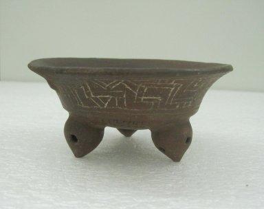 <em>Bowl</em>, 800-1500. Ceramic, 2 3/16 x 4 3/4 x 4 5/8 in. (5.5 x 12 x 11.7 cm). Brooklyn Museum, Alfred W. Jenkins Fund, 34.2340. Creative Commons-BY (Photo: Brooklyn Museum, CUR.34.2340.jpg)