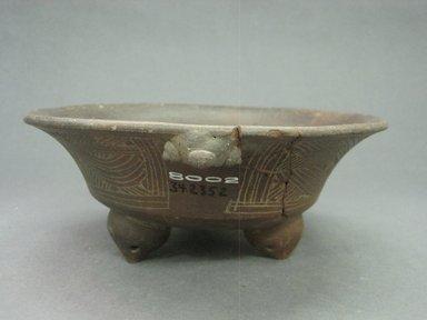 <em>Tripod Bowl</em>, 800-1500. Ceramic, 3 x 7 9/16 x 7 5/8 in. (7.6 x 19.2 x 19.4 cm). Brooklyn Museum, Alfred W. Jenkins Fund, 34.2352. Creative Commons-BY (Photo: Brooklyn Museum, CUR.34.2352_view2.jpg)
