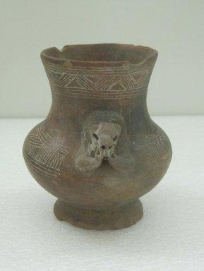 <em>Jar</em>, 800-1500. Ceramic, 5 3/4 x 4 3/8 x 4 in. (14.6 x 11.1 x 10.2 cm). Brooklyn Museum, Alfred W. Jenkins Fund, 34.2379. Creative Commons-BY (Photo: Brooklyn Museum, CUR.34.2379.jpg)