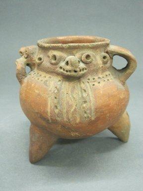 <em>Effigy Jar</em>, 800-1000. Ceramic, 5 1/8 x 4 15/16 x 4 5/8 in. (13 x 12.5 x 11.7 cm). Brooklyn Museum, Alfred W. Jenkins Fund, 34.2702. Creative Commons-BY (Photo: Brooklyn Museum, CUR.34.2702_view1.jpg)
