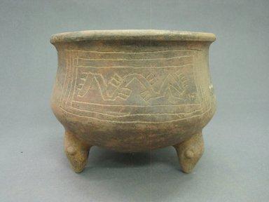 <em>Tripod Bowl</em>, 800-1550. Ceramic, 5 7/16 x 6 7/8 x 6 7/8 in. (13.8 x 17.5 x 17.5 cm). Brooklyn Museum, Alfred W. Jenkins Fund, 34.2959. Creative Commons-BY (Photo: Brooklyn Museum, CUR.34.2959_view2.jpg)