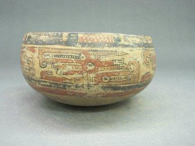 <em>Bowl</em>, 1000-1350. Ceramic, pigment, 3 3/8 x 6 3/4 x 7 in. (8.6 x 17.1 x 17.8 cm). Brooklyn Museum, Alfred W. Jenkins Fund, 34.3186. Creative Commons-BY (Photo: Brooklyn Museum, CUR.34.3186_view3.jpg)