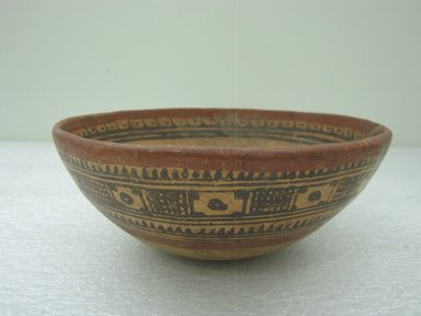 <em>Bowl</em>, 800-1200. Ceramic, pigment, 3 1/4 x 8 1/4 x 8 1/4 in. (8.3 x 21 x 21 cm). Brooklyn Museum, Alfred W. Jenkins Fund, 34.3196. Creative Commons-BY (Photo: Brooklyn Museum, CUR.34.3196.jpg)