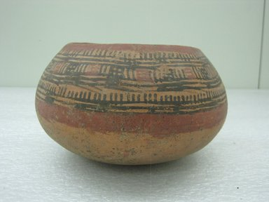 <em>Bowl</em>, 800-1200. Ceramic, pigment, 4 1/16 x 7 3/16 x 7 1/8 in. (10.3 x 18.3 x 18.1 cm). Brooklyn Museum, Alfred W. Jenkins Fund, 34.3311. Creative Commons-BY (Photo: Brooklyn Museum, CUR.34.3311.jpg)