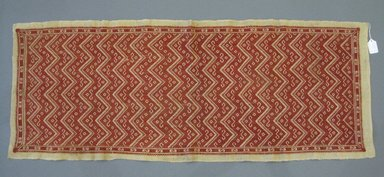 Greek. <em>Table Cover</em>, 19th century. Linen, silk thread, 44 1/4 x 16 1/2 in. (112.4 x 41.9 cm). Brooklyn Museum, Gift of Pratt Institute, 34.357. Creative Commons-BY (Photo: Brooklyn Museum, CUR.34.357.jpg)