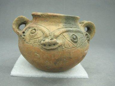 <em>Jar</em>, 800-1500. Ceramic, 3 1/4 x 5 1/2 x 5 in. (8.3 x 14 x 12.7 cm). Brooklyn Museum, Alfred W. Jenkins Fund, 34.3587. Creative Commons-BY (Photo: Brooklyn Museum, CUR.34.3587_view1.jpg)