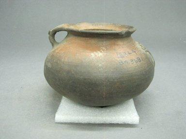 <em>Jar</em>, 800-1500. Ceramic, pigment, 3 1/2 x 5 x 4 3/4 in. (8.9 x 12.7 x 12.1 cm). Brooklyn Museum, Alfred W. Jenkins Fund, 34.3681. Creative Commons-BY (Photo: Brooklyn Museum, CUR.34.3681_view1.jpg)