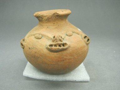 <em>Effigy Jar</em>, 800-1500. Ceramic, 3 3/4 x 3 15/16 x 3 7/8 in. (9.5 x 10 x 9.8 cm). Brooklyn Museum, Alfred W. Jenkins Fund, 34.3694. Creative Commons-BY (Photo: Brooklyn Museum, CUR.34.3694.jpg)