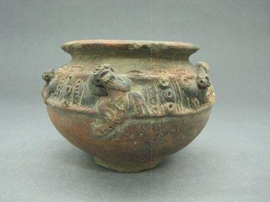 <em>Jar</em>, 800-1500. Ceramic, 3 9/16 x 5 1/4 x 5 1/4 in. (9 x 13.3 x 13.3 cm). Brooklyn Museum, Alfred W. Jenkins Fund, 34.4087. Creative Commons-BY (Photo: Brooklyn Museum, CUR.34.4087_view1.jpg)