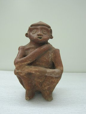 <em>Male Figure</em>. Ceramic, 9 1/4 x 6 x 6 in. (23.5 x 15.2 x 15.2 cm). Brooklyn Museum, Alfred W. Jenkins Fund, 34.4118. Creative Commons-BY (Photo: Brooklyn Museum, CUR.34.4118_front.jpg)