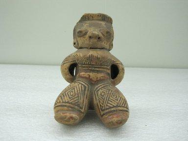 <em>Female Figurine</em>, 800-1200. Ceramic, pigment, 5 x 3 3/4 x 4 in. (12.7 x 9.5 x 10.2 cm). Brooklyn Museum, Alfred W. Jenkins Fund, 34.4124. Creative Commons-BY (Photo: Brooklyn Museum, CUR.34.4124.jpg)