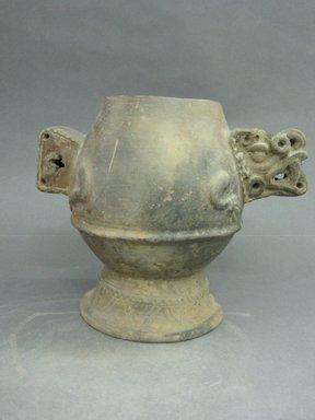 <em>Jar</em>, 1000-1500. Ceramic, 8 11/16 x 10 1/4 x 9 3/4 in. (22 x 26 x 24.8 cm). Brooklyn Museum, Alfred W. Jenkins Fund, 34.4199. Creative Commons-BY (Photo: Brooklyn Museum, CUR.34.4199_view1.jpg)