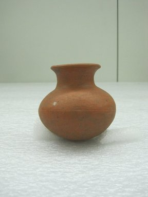 <em>Miniature Jar</em>, 100 B.C.E.-500 C.E. Ceramic, 3 1/4 x 2 5/8 x 2 3/4 in. (8.3 x 6.7 x 7 cm). Brooklyn Museum, Alfred W. Jenkins Fund, 34.4570. Creative Commons-BY (Photo: Brooklyn Museum, CUR.34.4570.jpg)