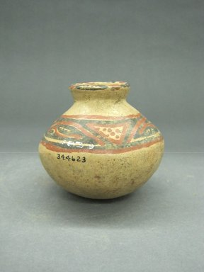 <em>Jar</em>, 1000-1500. Ceramic, 3 3/4 x 3 3/4 x 3 3/4 in. (9.5 x 9.5 x 9.5 cm). Brooklyn Museum, Alfred W. Jenkins Fund, 34.4623. Creative Commons-BY (Photo: Brooklyn Museum, CUR.34.4623_view1.jpg)