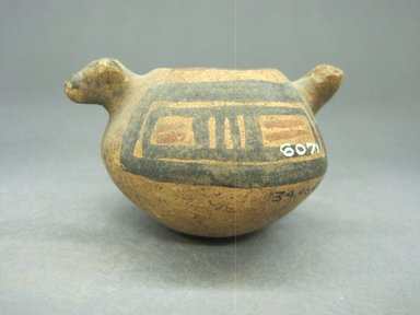 <em>Miniature Animal Effigy Jar</em>, 1000-1550. Ceramic, pigment, 2 x 3 1/4 x 2 5/8 in. (5.1 x 8.3 x 6.7 cm). Brooklyn Museum, Alfred W. Jenkins Fund, 34.4647. Creative Commons-BY (Photo: Brooklyn Museum, CUR.34.4647_view1.jpg)