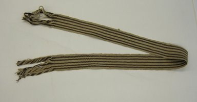 <em>Belt</em>, early 20th century. Cotton, 2 5/8 x 59 1/2 in. (6.7 x 151.1 cm). Brooklyn Museum, Alfred W. Jenkins Fund, 34.5564. Creative Commons-BY (Photo: Brooklyn Museum, CUR.34.5564.jpg)