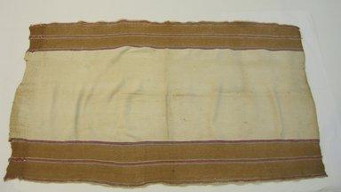 <em>Garment; Utility cloth(?)</em>, 20th century. Cotton, 33 1/2 x 60 in. (85.1 x 152.4 cm). Brooklyn Museum, Alfred W. Jenkins Fund, 34.5565. Creative Commons-BY (Photo: Brooklyn Museum, CUR.34.5565.jpg)