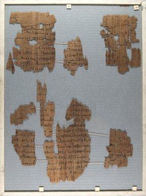 <em>The Wilbour Papyrus</em>, ca. 1147 B.C.E. Papyrus, ink, Glass: 13 3/8 x 18 1/8 in. (34 x 46 cm). Brooklyn Museum, Charles Edwin Wilbour Fund, 34.5596.2 (Photo: Brooklyn Museum, CUR.34.5596.2_front_IMLS_PS5.jpg)