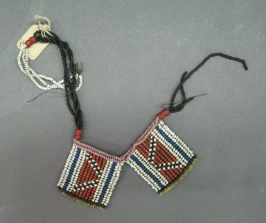 Possibly Xhosa. <em>Neck Ornament</em>, early to mid-20th century. Glass seed beads, natural fiber, sinew?, 13 3/4 in. (34.9 cm). Brooklyn Museum, Gift of Dr. Clark Burnham, 34.5603.30. Creative Commons-BY (Photo: Brooklyn Museum, CUR.34.5603.30_overall.jpg)