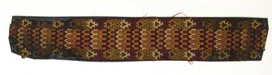 Ica. <em>Tunic?, Fragment or Textile Fragment, Undetermined</em>, 1400-1532 C.E. Cotton, camelid fiber, 2 13/16 × 16 1/2 in. (7.1 × 41.9 cm). Brooklyn Museum, George C. Brackett Fund, 34.567.2. Creative Commons-BY (Photo: Brooklyn Museum, CUR.34.567.2.jpg)