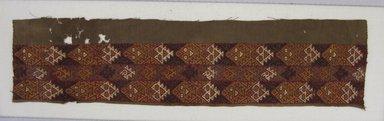 Ica. <em>Tunic, Fragment</em>, 1000-1400. Cotton, camelid fiber, 4 5/16 x 17 15/16 in. (11 x 45.6 cm). Brooklyn Museum, George C. Brackett Fund, 34.568. Creative Commons-BY (Photo: Brooklyn Museum, CUR.34.568.jpg)