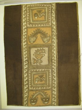 Chancay. <em>Textile Fragment, undetermined</em>, 1000-1532 C.E. Cotton, 13 3/8 x 18 7/8 in. (34 x 48 cm). Brooklyn Museum, George C. Brackett Fund, 34.571. Creative Commons-BY (Photo: Brooklyn Museum, CUR.34.571.jpg)