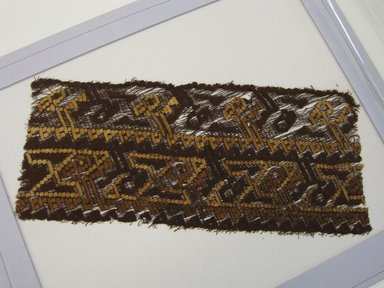 Chancay /Huancho. <em>Textile Fragment, undetermined</em>, 1000-1532. Cotton, camelid fiber, 15 3/8 x 19 11/16 in. (39 x 50 cm). Brooklyn Museum, George C. Brackett Fund, 34.574. Creative Commons-BY (Photo: Brooklyn Museum, CUR.34.574.jpg)