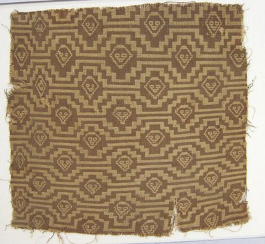 Chancay. <em>Textile Fragment, undetermined</em>, 1000-1532. Cotton, 11 × 11 3/4 in. (27.9 × 29.8 cm). Brooklyn Museum, George C. Brackett Fund, 34.580. Creative Commons-BY (Photo: Brooklyn Museum, CUR.34.580.jpg)