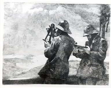 "Winslow Homer (American, 1836-1910). <em>Eight Bells</em>, 1887. Etching, 18 3/4 x 24 1/2"". Brooklyn Museum, Carll H. de Silver Fund, 35.1059 (Photo: Brooklyn Museum, CUR.35.1059_bw.jpg)"