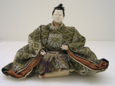 <em>Doll Depicting a Prince (Odairisama)</em>. Silk, wood, porcelain, 6 x 8 1/2 x 3 3/4in. (15.2 x 21.6 x 9.5cm). Brooklyn Museum, Brooklyn Museum Collection, 35.1562. Creative Commons-BY (Photo: Brooklyn Museum, CUR.35.1562_front.jpg)