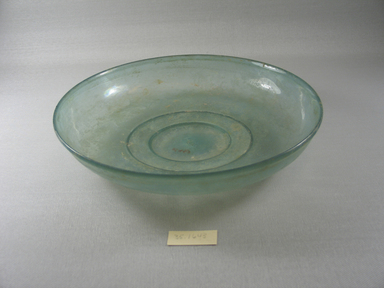 Roman. <em>Shallow Bowl</em>, late 4th century C.E. Glass, 1 15/16 x Diam. 9 13/16 in. (5 x 25 cm). Brooklyn Museum, Brooklyn Museum Collection, 35.1643. Creative Commons-BY (Photo: Brooklyn Museum, CUR.35.1643.jpg)