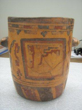 Maya. <em>Jar</em>. Ceramic, pigment, 8 1/4 x 9 1/2 x 6 3/4 in. (21 x 24.1 x 17.1 cm). Brooklyn Museum, A. Augustus Healy Fund, 35.1886. Creative Commons-BY (Photo: Brooklyn Museum, CUR.35.1886_view3.jpg)