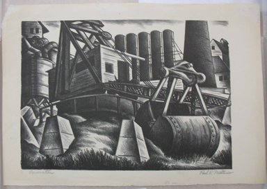 Paul R. Meltsner (American, 1905-1967). <em>Excavation</em>, n.d. Lithograph, Image: 10 1/4 x 14 5/16 in. (26.1 x 36.4 cm). Brooklyn Museum, Gift of the artist, 35.1959 (Photo: Brooklyn Museum, CUR.35.1959.jpg)
