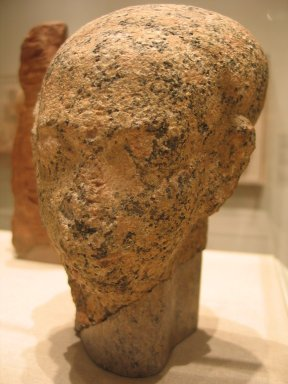 <em>Head of a Princess</em>, ca. 1352-1336 B.C.E. Granite, pigment, 9 5/8 x 5 7/16 in. (24.4 x 13.8 cm). Brooklyn Museum, Gift of the Egypt Exploration Society, 35.2006. Creative Commons-BY (Photo: Brooklyn Museum, CUR.35.2006_view1_wwg7.jpg)