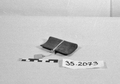 Fijian. <em>Block Used in Net Weaving</em>. Wood, 3 7/16 x 2 3/16 in. (8.8 x 5.5 cm). Brooklyn Museum, Gift of Appleton Sturgis, 35.2073. Creative Commons-BY (Photo: Brooklyn Museum, CUR.35.2073_bw.jpg)