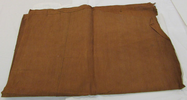 Hawaiian. <em>Tapa (Kapa)</em>, late 19th century. Barkcloth, pigment, 89 3/4 x 70 7/8 in (228 x 180 cm). Brooklyn Museum, Gift of Appleton Sturgis, 35.2228. Creative Commons-BY (Photo: , CUR.35.2228_overall.jpg)