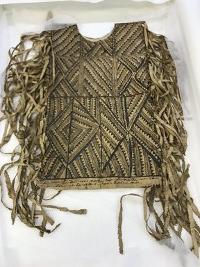 Possibly Niuean. <em>Poncho (Tiputa)</em>, late 19th century. Barkcloth, pigment, 18 7/8 x 31 1/2 in. (48 x 80 cm). Brooklyn Museum, Gift of Appleton Sturgis, 35.2237. Creative Commons-BY (Photo: , CUR.35.2237.jpg)