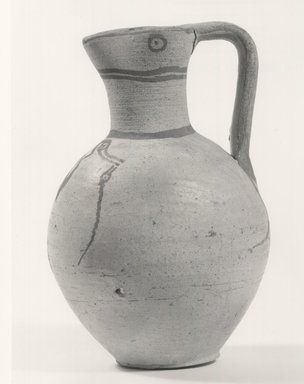 Cypriot. <em>Oinochoe</em>, 750 B.C.E.-550 B.C.E. Clay, pigment, 6 5/8 in. (16.8 cm). Brooklyn Museum, Brooklyn Museum Collection, 35.638. Creative Commons-BY (Photo: Brooklyn Museum, CUR.35.638_print_NegA_bw.jpg)
