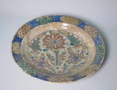 <em>Large Plate</em>, 17th century. Ceramic, 2 5/8 x 13 11/16 in. (6.6 x 34.8 cm). Brooklyn Museum, Gift of Frank L. Babbott, 35.675. Creative Commons-BY (Photo: Brooklyn Museum, CUR.35.675.jpg)