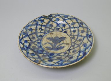 <em>Small Plate</em>. Ceramic, 1 13/16 x 8 3/8 in. (4.6 x 21.2 cm). Brooklyn Museum, Brooklyn Museum Collection, 35.688.1. Creative Commons-BY (Photo: Brooklyn Museum, CUR.35.688.1_top.jpg)