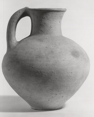 Mycenaean. <em>Jug</em>, ca. 1330-1190 B.C.E. Clay, 10 1/8 x max. diam. 8 3/4 in. (25.7 x 22.3 cm). Brooklyn Museum, Charles Edwin Wilbour Fund, 35.735. Creative Commons-BY (Photo: Brooklyn Museum, CUR.35.735_print_NegA_bw.jpg)