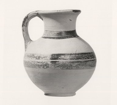 <em>Jug</em>, ca.1250 B.C.E. Clay, pigment, Height: 3 1/2 in. (8.9 cm). Brooklyn Museum, Charles Edwin Wilbour Fund, 35.740. Creative Commons-BY (Photo: Brooklyn Museum, CUR.35.740_print_NegA_bw.jpg)