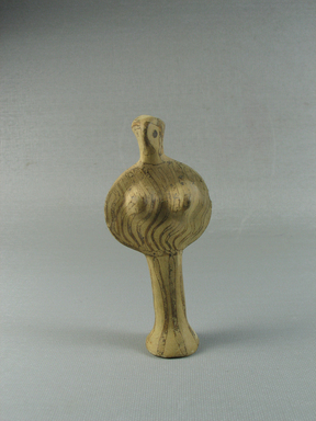 Mycenaean. <em>Female Figure</em>, ca. 1420-1190 B.C.E. Clay, pigment, 4 1/2 x 1 7/8 x 1 1/16 in. (11.4 x 4.8 x 2.7 cm). Brooklyn Museum, Charles Edwin Wilbour Fund, 35.743. Creative Commons-BY (Photo: Brooklyn Museum, CUR.35.743_view01.jpg)