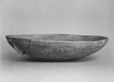 Cycladic. <em>Bowl with Lug Handle</em>, ca. 3000 B.C.E. Marble (?), 2 3/16 x 8 13/16 in. (5.5 x 22.4 cm). Brooklyn Museum, Charles Edwin Wilbour Fund, 35.759. Creative Commons-BY (Photo: Brooklyn Museum, CUR.35.759_print_bw.jpg)