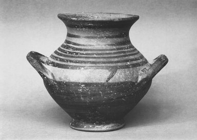 Mycenaean. <em>Vase</em>, ca.1200 B.C.E. Clay, pigment, 3 3/4 x Diameter 3 5/8 in. (9.5 x 9.2 cm). Brooklyn Museum, Charles Edwin Wilbour Fund, 35.768. Creative Commons-BY (Photo: Brooklyn Museum, CUR.35.768_print_bw.jpg)