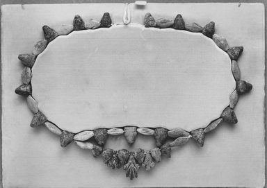 <em>Beaded Necklace</em>, ca. 1500 B.C.E. Faience, Length: 17 11/16 in. (45 cm). Brooklyn Museum, Charles Edwin Wilbour Fund, 35.807. Creative Commons-BY (Photo: Brooklyn Museum, CUR.35.807_print_bw.jpg)